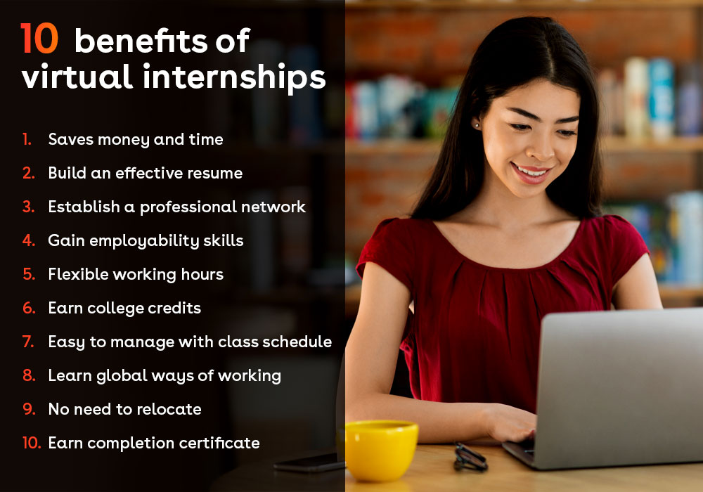 Online virtual internship